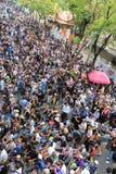Protestation contre l'amnistie Bill Image stock