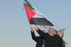 Protestation contre l'Israël photographie stock libre de droits