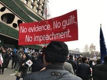 Protestation contre la mise en accusation du ` s de parc - SÉOUL Images libres de droits