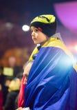 Protestation contre le coruption et le gouvernement roumain Photos libres de droits