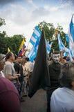 Protestation contre le gouvernement de l'Equateur Photo libre de droits
