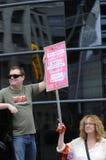 Protestation d'émeute de chat à Toronto Canada. Image libre de droits