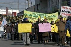 Protestation d'étudiant au Chili Image libre de droits