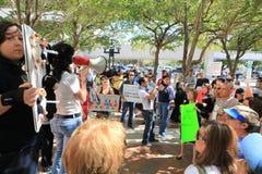 Protestation d'abri de Miami-Dade Photos libres de droits