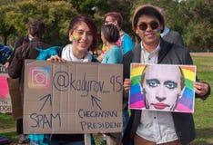 Protestation d'Amnesty International Chechenie Image libre de droits