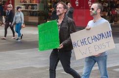 Protestation d'Amnesty International Chechenie Photo stock