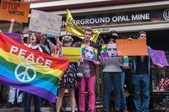 Protestation d'Amnesty International Chechenie Photographie stock