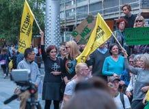 Protestation d'Amnesty International Chechenie Image stock
