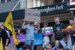 Protestation d'Amnesty International Chechenie Photographie stock libre de droits