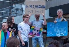 Protestation d'Amnesty International Chechenie Photo libre de droits