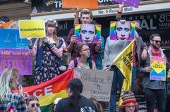 Protestation d'Amnesty International Chechenie Images libres de droits