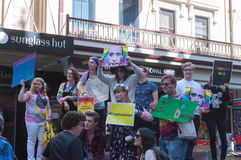 Protestation d'Amnesty International Chechenie Photos libres de droits