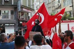 protestation d'Anti-coup en Turquie Images libres de droits