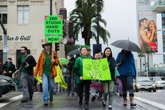 Protestation d'artistes d'effets visuels pendant les prix de l'Académie Photo libre de droits