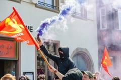 Protestation d'avril contre des réformes de travail dans les Frances Photos libres de droits