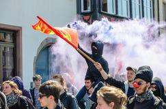 Protestation d'avril contre des réformes de travail dans les Frances Photographie stock