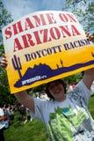 Protestation d'immigration à la Maison Blanche  Image libre de droits