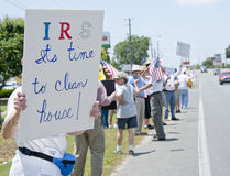 Protestation d'IRS Photo stock