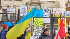 Protestation d'Ukrainien-Montrealers Image libre de droits