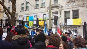 Protestation d'Ukrainien-Montrealers Photo libre de droits
