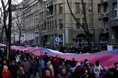 Protestation de ?ntiauthority à Kharkiv, Ukraine Images libres de droits