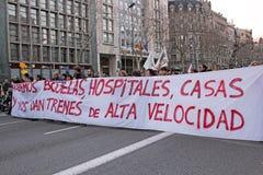 Protestation de Barcelone Photos libres de droits