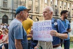 Protestation de Bucarest Photo libre de droits