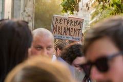 Protestation de Bucarest Image stock