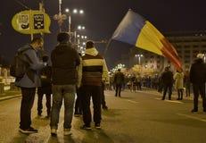 Protestation de Bucarest, modifiant les lois de la justice photographie stock