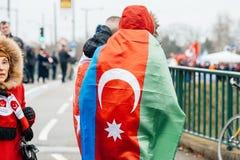 Protestation de Diaspora d'Arménien et de la Turquie Image stock