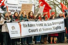 Protestation de Diaspora d'Arménien et de la Turquie Images libres de droits
