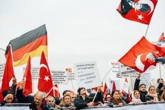 Protestation de Diaspora d'Arménien et de la Turquie Images stock