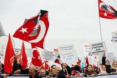 Protestation de Diaspora d'Arménien et de la Turquie Photographie stock libre de droits