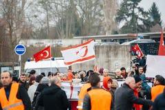 Protestation de Diaspora d'Arménien et de la Turquie Photo libre de droits