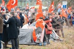 Protestation de Diaspora d'Arménien et de la Turquie Image libre de droits