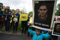 Protestation de droits de l'homme Image stock