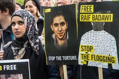 Protestation de droits de l'homme Photo libre de droits