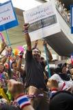 protestation de facture d'Anti-amnistie à Bangkok images libres de droits