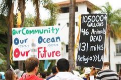 Protestation de flaque d'huile Photographie stock libre de droits