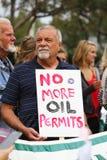 Protestation de flaque d'huile Image libre de droits
