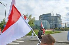 Protestation de foule contre la réforme régionale de gouvernement Images stock