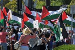 Protestation de Gaza Photo libre de droits
