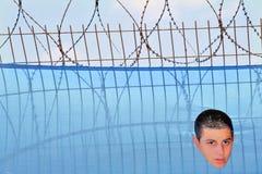 Protestation de Gilad Shalit Photographie stock libre de droits