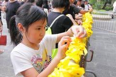 Protestation de Hong Kong au-dessus des morts d'otage de Manille Image libre de droits