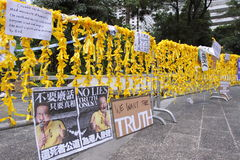 Protestation de Hong Kong au-dessus des morts d'otage de Manille Photos stock