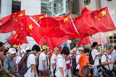 Protestation de Hong Kong Oppose Occupy Central Photographie stock