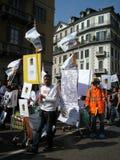 Protestation de jour de libération à Milan, Italie, Images stock