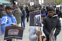 Protestation de l'Eelam Tamoul contre le Sri Lanka Photographie stock libre de droits