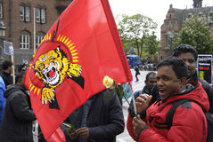 Protestation de l'Eelam Tamoul contre le Sri Lanka Photos stock