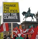 Protestation de l'environnement de Copenhague Image libre de droits